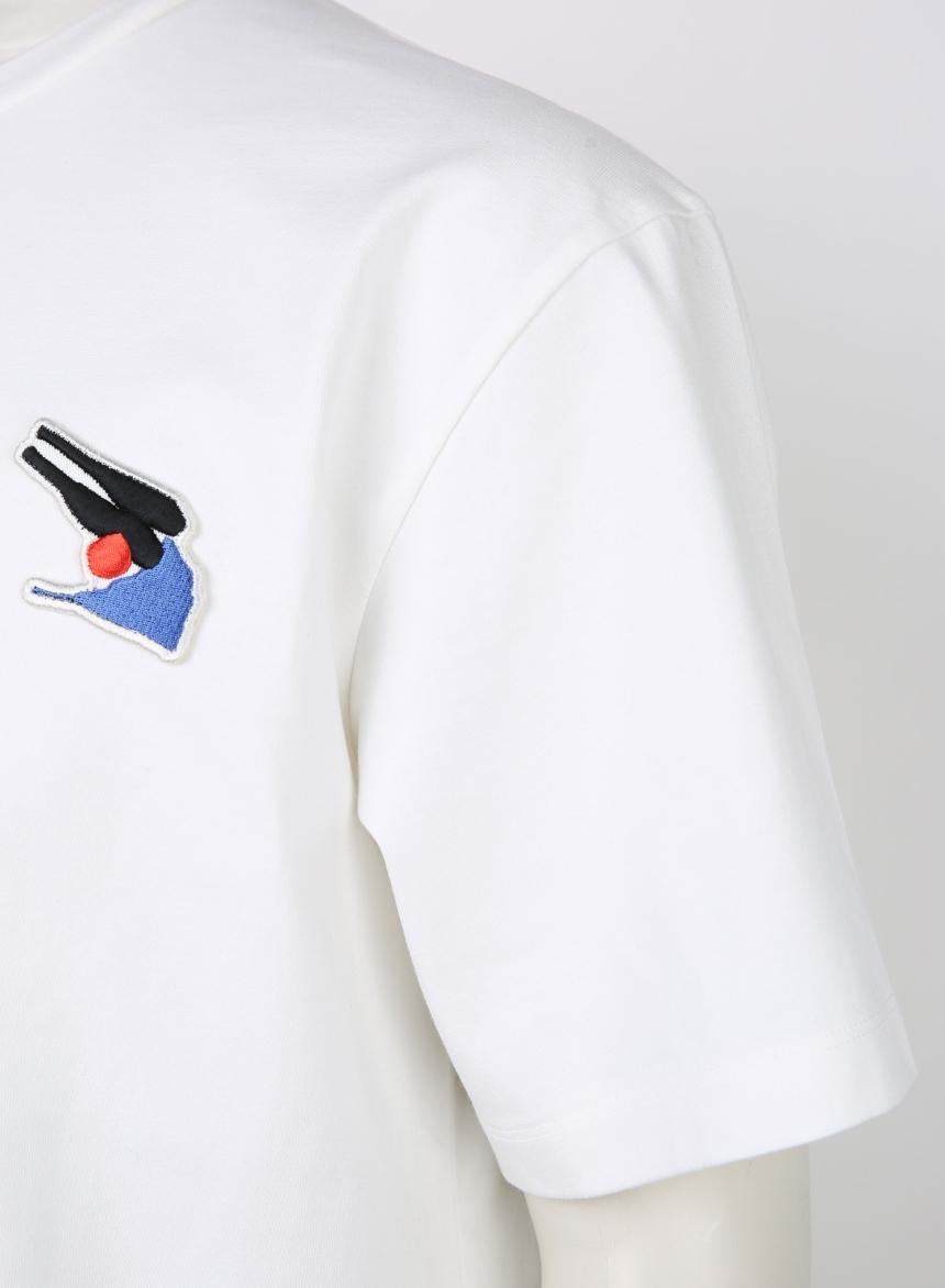 앤드지(AND Z) [앤드지X차인철 콜라보]자수와펜 세미오버핏 티셔츠(WT)_BZZ2TR1121WT